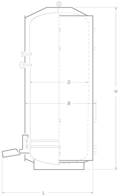 Водонагреватель 10000 литров тип «Вертикальный»