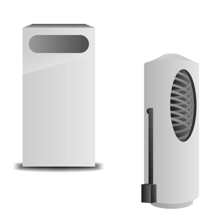 Электрокотел с водонагревателем накопительного типа с внутренним трубчатым теплообменником.