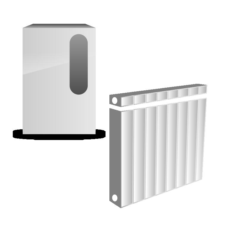 """Электрокотел """"Эконом"""" с радиаторами или конвекторами"""