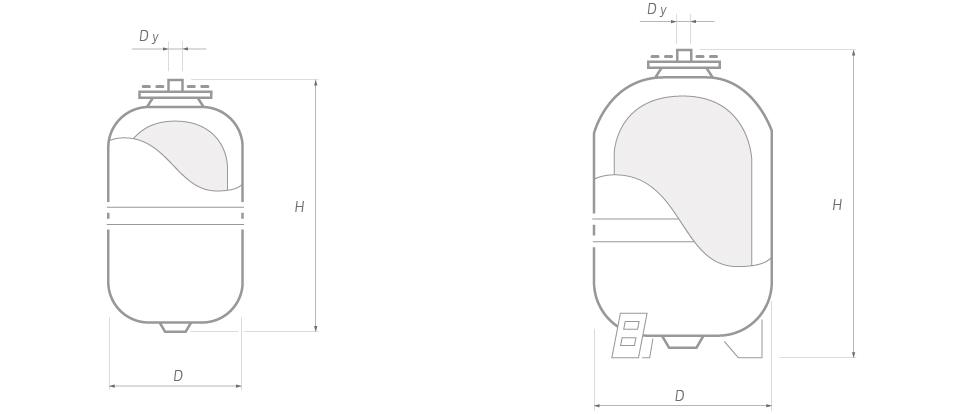Расширительные баки системы отопления 8 литров